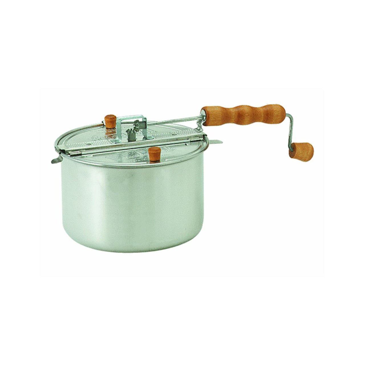 Wabash Valley Farms Original Silver Whirley Pop Stovetop Popcorn Popper (Includes Popping Kit)