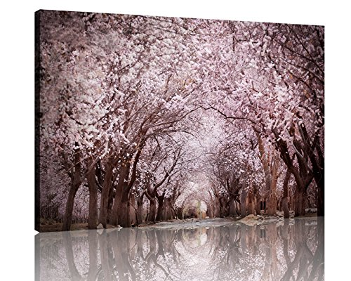 NAN Wind 1 Piece Modern Cherry Blossom Trees Large Wall Art Canvas Picture Artwork Landscape Wall Decor Wall Art Canvas Home Decor Decoration Bedroom Living Room (Trees Paintings Blossom Of Cherry)