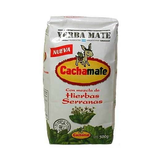 Amazon.com: 1.1 lbs Cachamate Serranas Herbal Blend Yerba Mate (500g): Kitchen & Dining