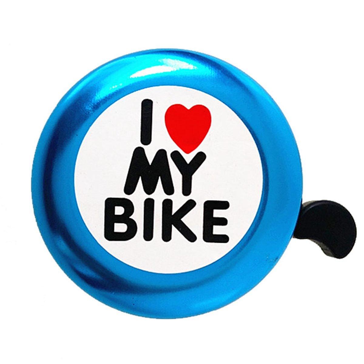 I Like My Bike Bocina de bicicleta SODIAL Campana de bicicleta Anillo de aluminio fuerte Accesorios de bicicleta mini para Bicicletas de Adultos Hombres Mujeres Ninos Chicas azul