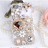 Ltieltie™ Handmade Luxury Bling Diamond Rhinestone Crystal Jewelled Gems Hard Case Cover For HTC Desire 526G 526 Phone