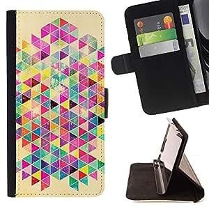 For Apple Apple iPhone 4 / iPhone 4S Case , Patrón cartel colorido de la rata- la tarjeta de Crédito Slots PU Funda de cuero Monedero caso cubierta de piel