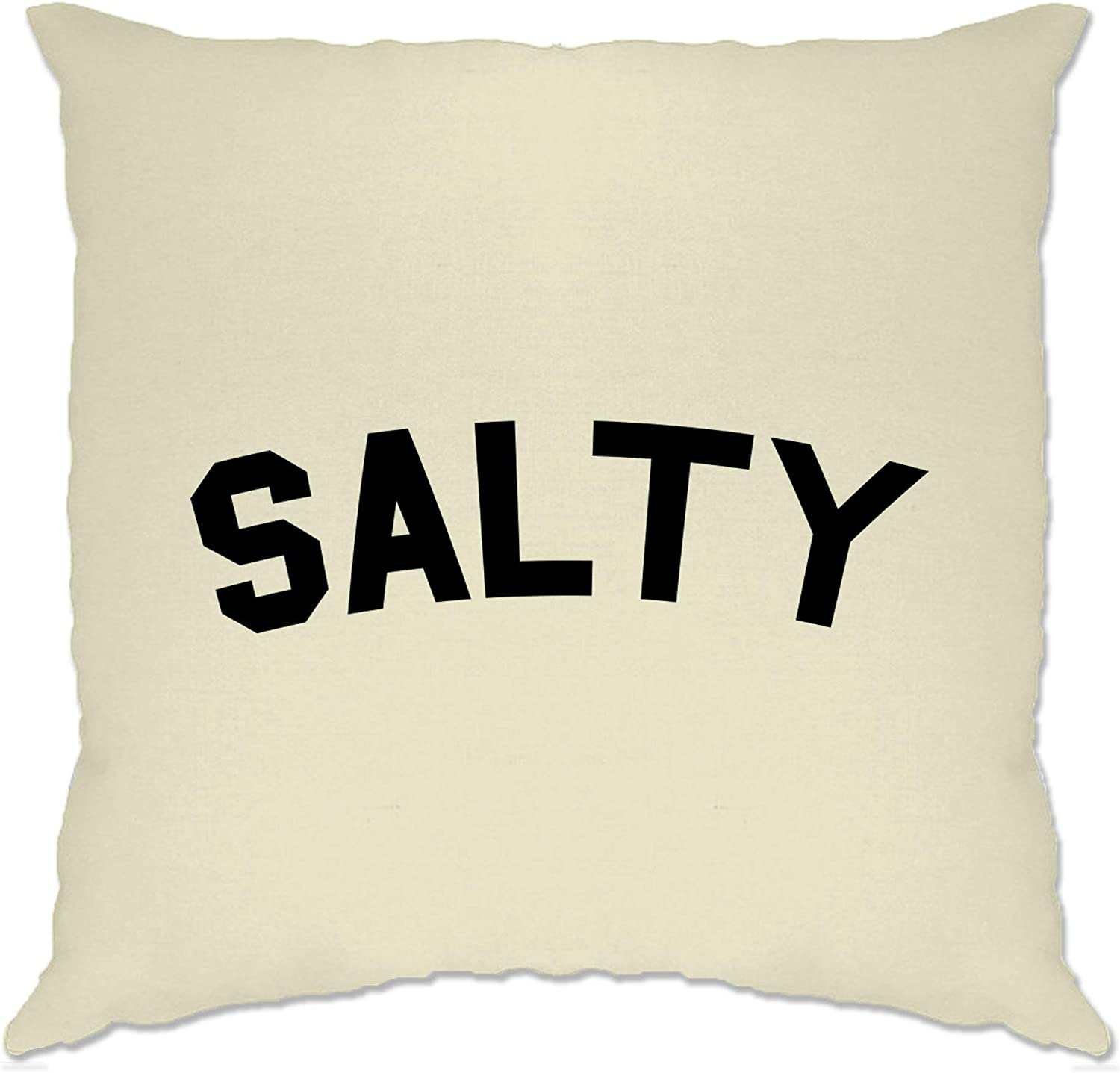 Natural//One Size Tim And Ted Novelty Social Media Slogan Cushion Cover Salty Beef Joke Sassy Rude Trendy