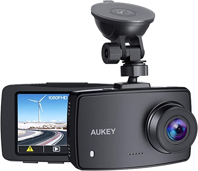 Amazon.com: AUKEY Dash Cam 1080P FHD Car Camera Supercapacitor 170° Wide-Angle Dash Camera for Cars 2.7 Inch LCD Screen, WDR, G-Sensor, Loop Recording, Motion Detection, Support 128GB MAXLive viewers eye icon