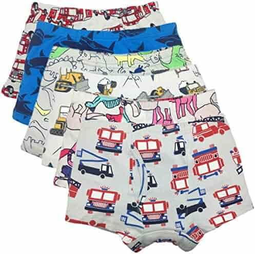 433712e736e4 Cczmfeas Boys Underwear Dinosaur Cotton Panties Boxer Briefs for Kid  Toddler 6 Pack