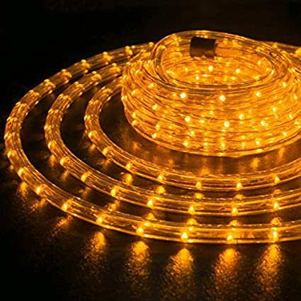 Amazon wyzworks 100 feet 12 thick orange pre assembled led wyzworks 100 feet 12quot thick orange pre assembled led rope lights with aloadofball Image collections