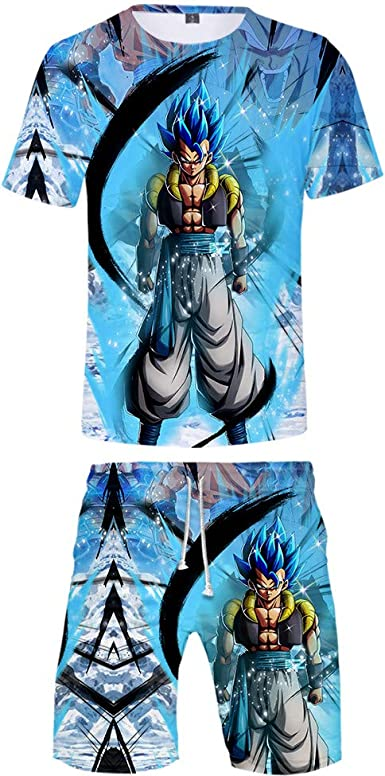 Dragon Ball Conjunto Verano Niños Niñas Camiseta de Manga Corta Impresión de Dibujos Animados y Pantalones Cortos: Amazon.es: Ropa y accesorios
