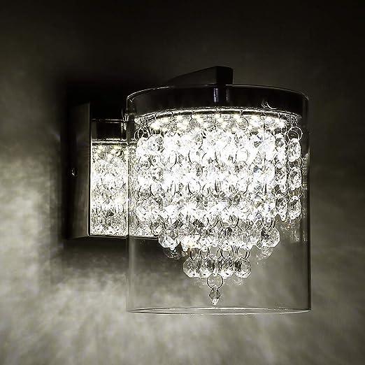 Modern Wall Light LED Glass Crystal Sconce Lamp Lighting Fixture Bedroom Decor