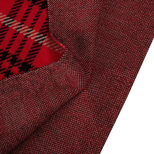 Kid Nation Girls Autumn Cape Sweater Shawl Mock Neck Red Black Plaid Poncho Cloak