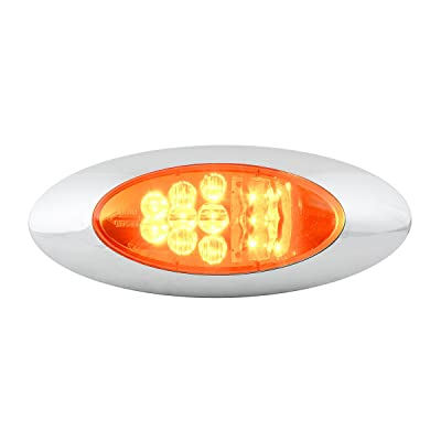 Grand General 77273 LED Light (Oval Y2K Red/Clear Side Marker and Turn), 1 Pack: Automotive