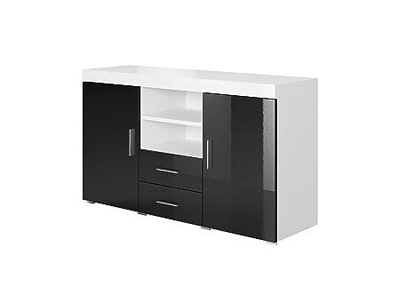 La Credenza Muebles : Muebles bonitos credenza modello roque colore bianco e nero: amazon