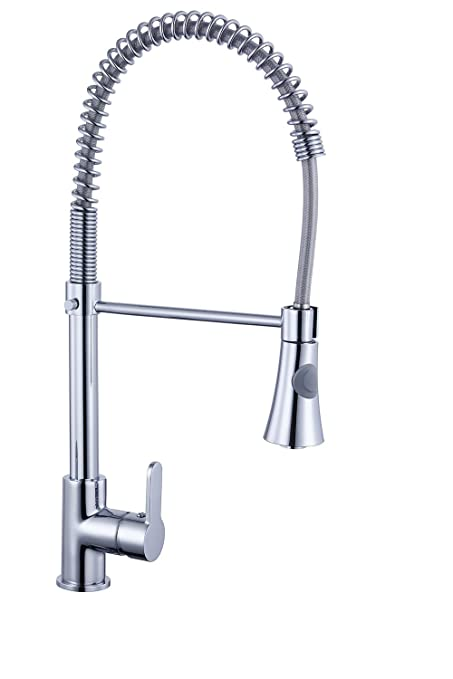 Spiralle Pull Out Mono Mixer Kitchen Sink Tap Chrome - Best Home ...