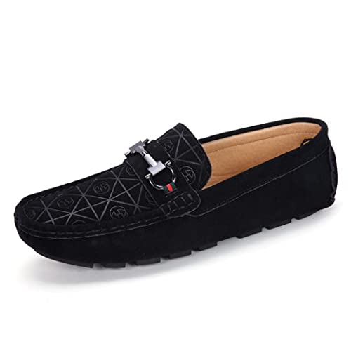 Mens Elegant Loafer Flats Lightweight Casual Soft Driving Shoe