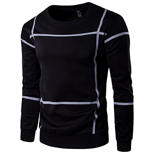 55e6644a21ae5 IEason Men Top Fashion Men s Slim Fit V Neck Long Sleeve Muscle Tee T-Shirt