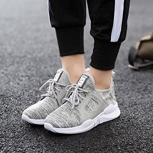 studenti scarpa passeggio da Elecenty per sportive esterni casual donna per Scarpe Scarpe donna Moda Scarpe da Grigio Scarpe sportive FdqwPdT
