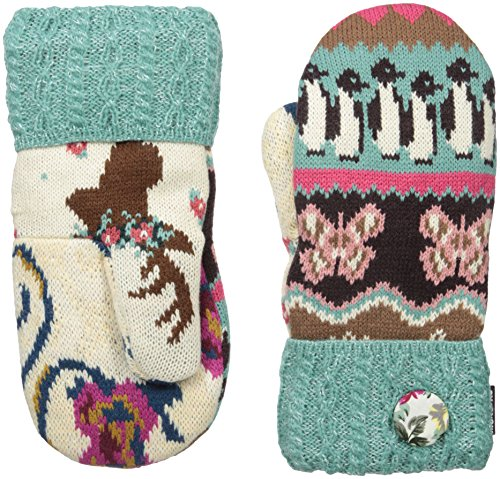 Muk Luks Women's Happy Glam Per Potholder Mittens-Fair Isle Mashup, Multi, One Size