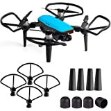 Kuuqa Protection Accessory Kits for Dji Spark, Including Propeller Prop Guard with Landing Gear Extender Protection Set and Motor Cap Cover