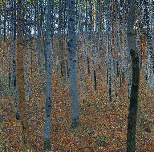 Paintings Klimt Landscape Gustav - Canvas Art Print Reproduction Unmounted - 90X90cm (Approx. 36X36inch) Beech Grove I by Gustav Klimt - Tree Landscape Paintings Giclee Picture Artwork Wall Decor