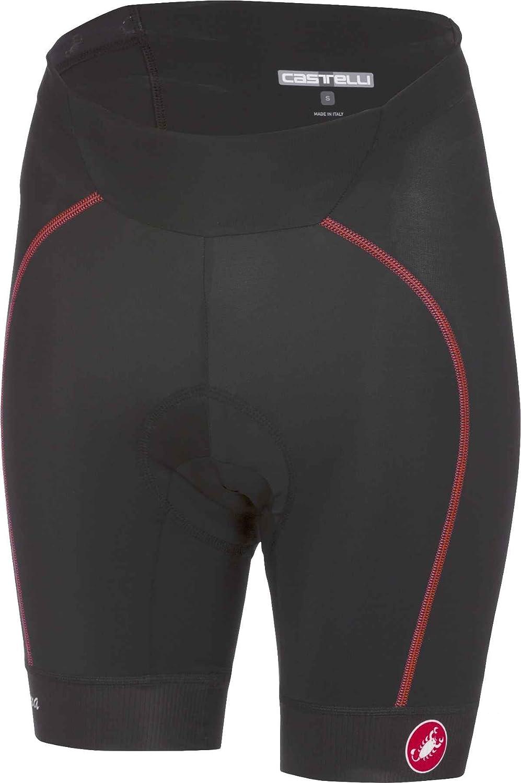 Castelli velocissima–Pantaloncini da Donna, Donna, Black/Red, Large