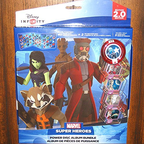 Disney Infinity 2.0 Marvel Guardians of the Galaxy Power Disc Album Bundle (Characters In Guardians Of The Galaxy 2)