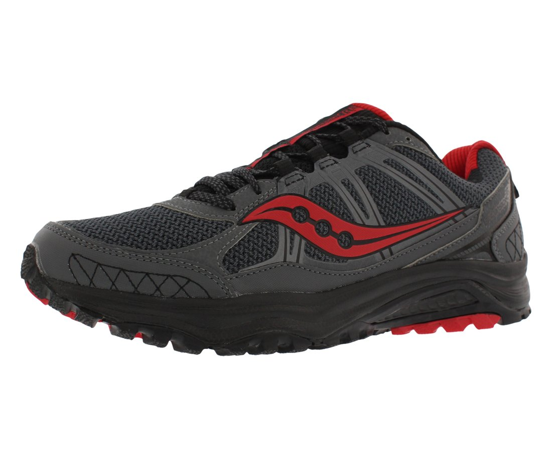 Saucony Grid Excursion TR 10 Men's Running Shoes Size US 13, Regular Width, Color Charcoal/Black/Red