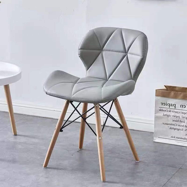 Sedia per Scrivania Sedia per Computer MIFI Sedie in Legno da Pranzo in Stile Eiffel Sedia per Toletta Bianco Sedie in Legno Gambe in Legno e Comoda Seduta Imbottita