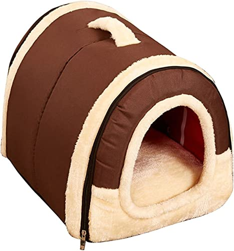 yuxufeng Multifuctional Warm Fleece Soft Removable Dog House Nest with Mat Foldable Pet Dog Cat Bed House for Small Medium and Large Dogs