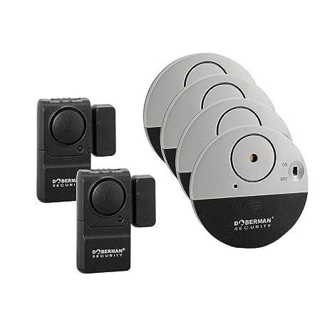 Alarma casa, WER Kit de 6 Doberman alarmas de Seguridad para casa y oficina