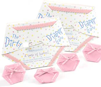 Big Dot of Happiness The Dirty Diaper Game - Baby Shower Game - Pink (20 Diapers)