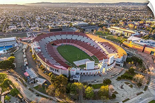 Canvas on Demand Copterpilot Photography Wall Peel Wall Art Print entitled Aerial View of Los Angeles Memorial Coliseum, California 48