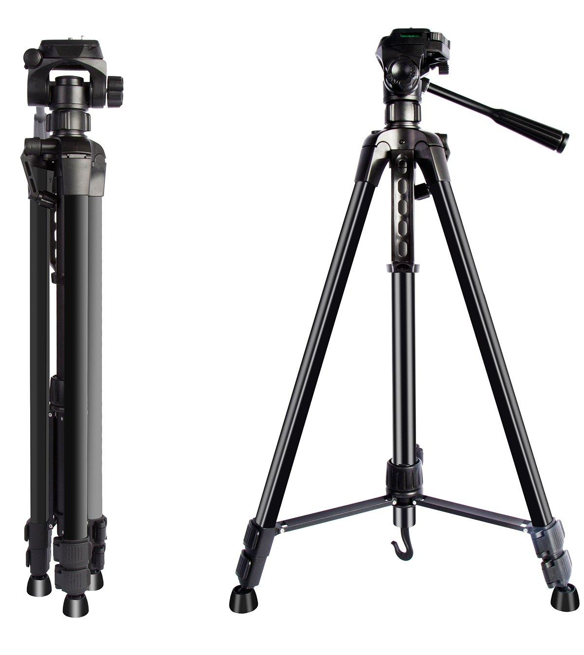 xqmart 62インチ軽量三脚forデジタルカメラビデオカメラアウトドアTralvel写真アクティビティ   B07B7DQL3Y