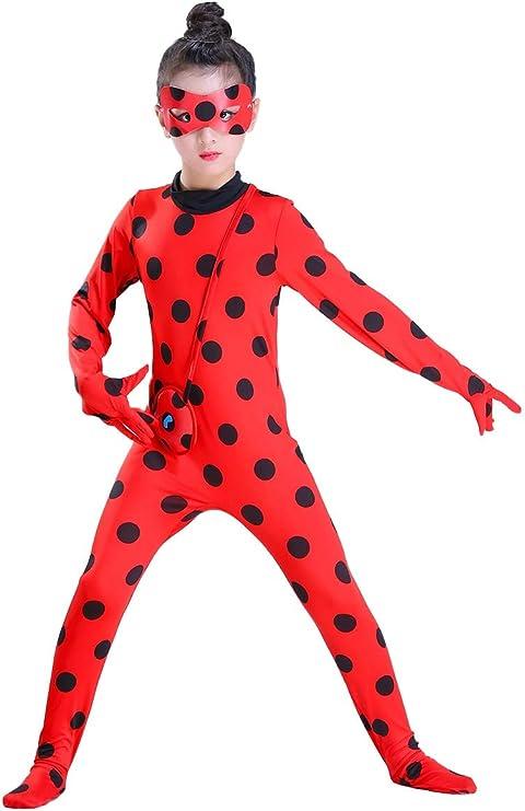 MYRISAM Disfraz de Mariquita Milagrosa para Niña Halloween Ladybug ...