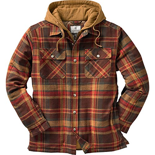 Legendary Whitetails Maplewood Hooded Shirt Jacket, Maplewood Plaid, Small