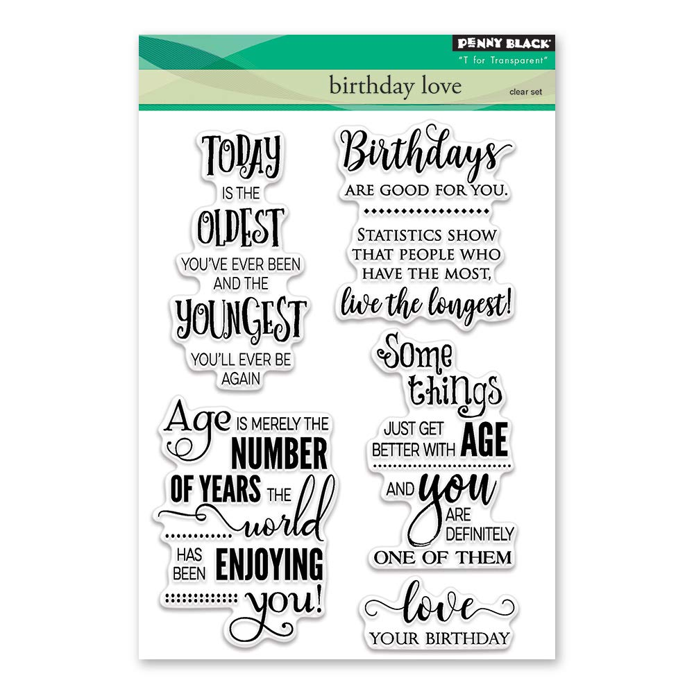 Penny Black Birthday Love Clear Stamps, 5X7 5X7 30-413