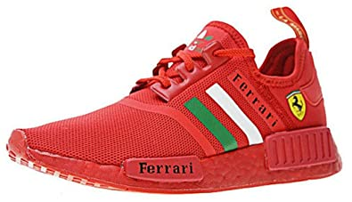 Herren Damen Ferrari X NMD R1 Boost Triple Red BA7788 ...