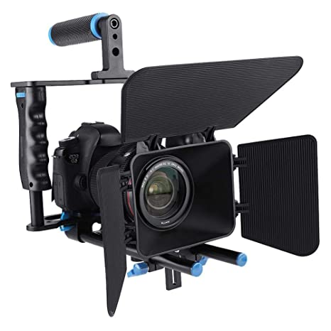Mugast Estabilizador de cámara de Video C200, Caja de cámara DSLR ...