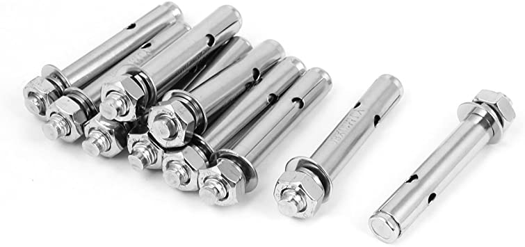 M8x70mm Stainless Steel Sleeve Anchors Expansion Screws Bolts 5 Pcs