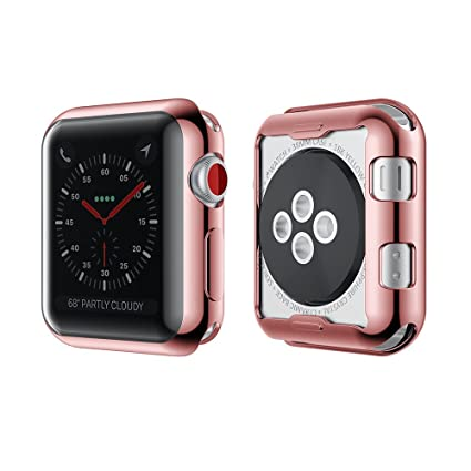 sale retailer 6fc99 40835 Smiling Rose Case for Apple Watch 42mm Buit in TPU Screen Protector  All-Around Protective Case High Definition Clear Ultra-Thin Cover for Apple  Watch ...