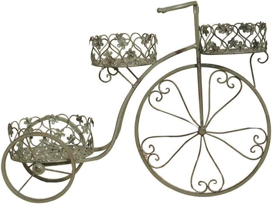 Flor Soporte de la Bicicleta Verde Hierro Forjado Flotador Verde eneldo Display Maceta sostenedor del Estante de la Planta al Aire Libre Patio Decoración (Size : L29.5×W10.2×H21.4in)
