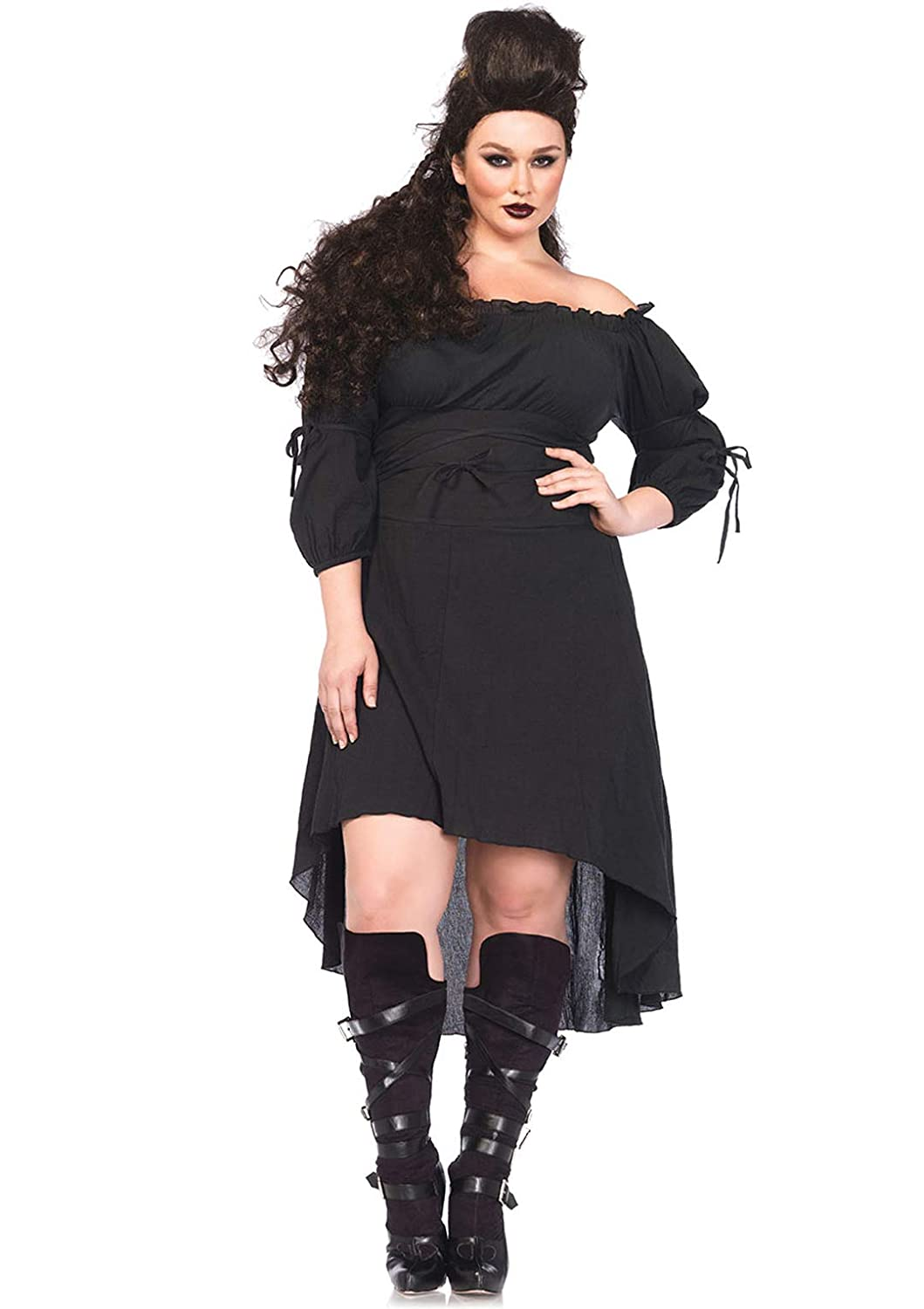 Steampunk Plus Size Clothing & Costumes Leg Avenue Womens High Low Peasant Dress Costume $61.25 AT vintagedancer.com
