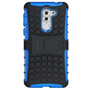 ykooe Funda Honor 6X, Honor 6X Teléfono Híbrida de Doble Capa con Soporte Carcasa para Huawei Honor 6X (5.5