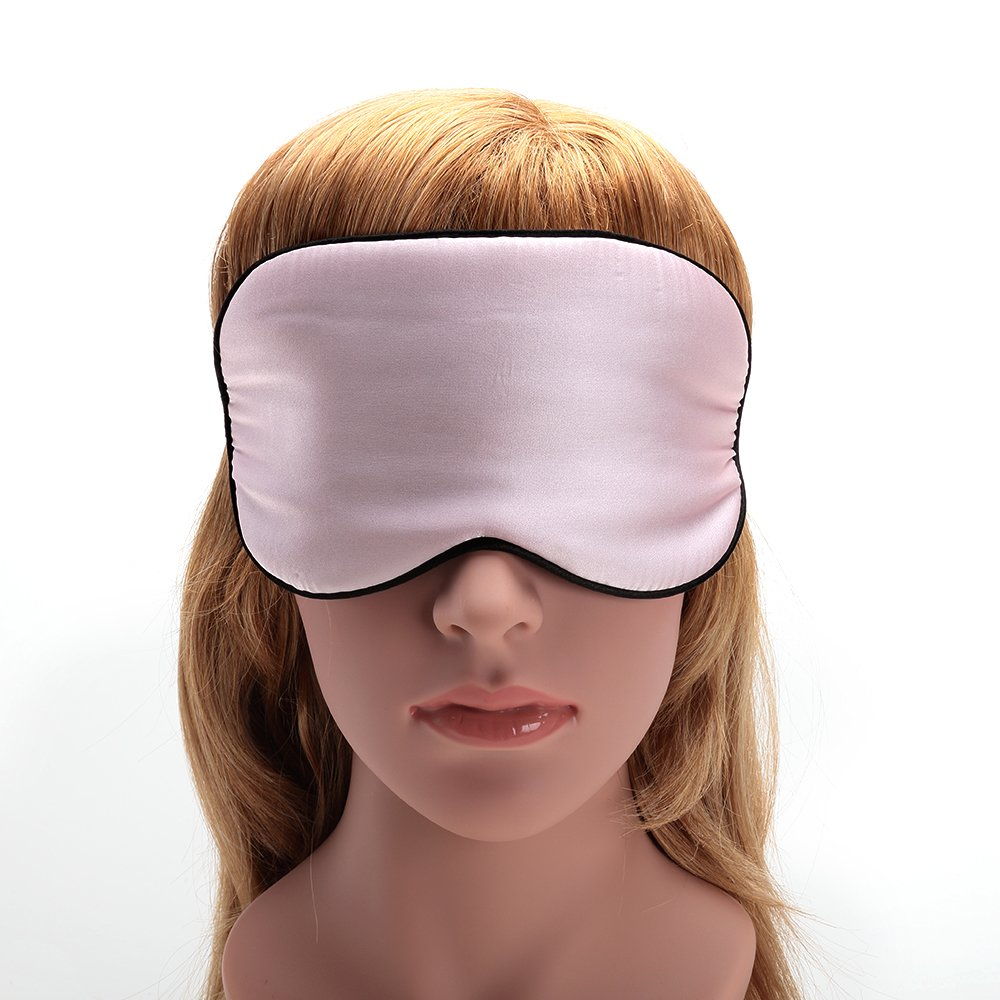 USCAMEL Tranquility 100% Silk Sleep Mask - Very Lightweight and Comfortable - Perfect for Travel and Sleeping - Pink