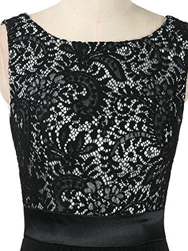 Damen Kragen Schwarz Pretty Armlos 08217 Abendkleider Runder Elegant Ever 5RXvzwqw