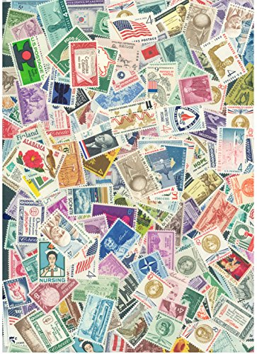100 Old Mint U.S. Stamp Collection with disturbed gum