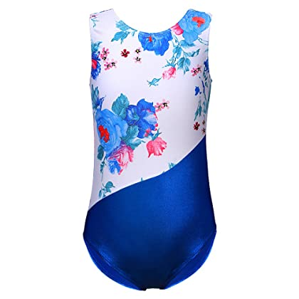 d56599b0d30a DAXIANG One-Piece Gymnastics Leotard Long Sleeves Floral Printed Gold Dance  Unitards for Little Girls 2-24 Years