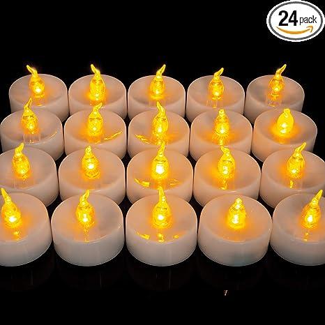 Flameless LED Candles Votive Tea Light Fake Candle Tealights Party Decor XMAS