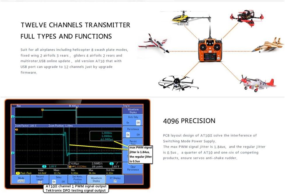 Radiolink AT10II 2.4G 12CH Transmitter w// R12DS Receiver