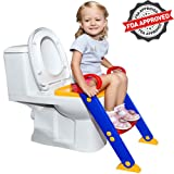 Amazon Price History for:#1 Potty Toilet Seat with Step Stool Ladder | Portable Trainer for Kids with Handles, Sturdy and Safe | Best Age is 1, 2, 3 and 4 Year Old Boys and Girls