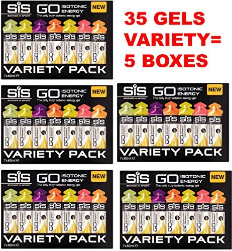 Science in Sport Go Isotonic Energy Gels - Box of 35s (VARIETY 5 BOXES)