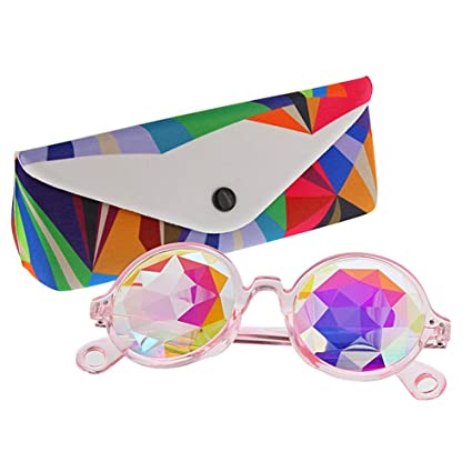 bbe1ef51f1d7 Image Unavailable. Image not available for. Color: TOPERSUN Rave Glasses  Kaleidoscope ...